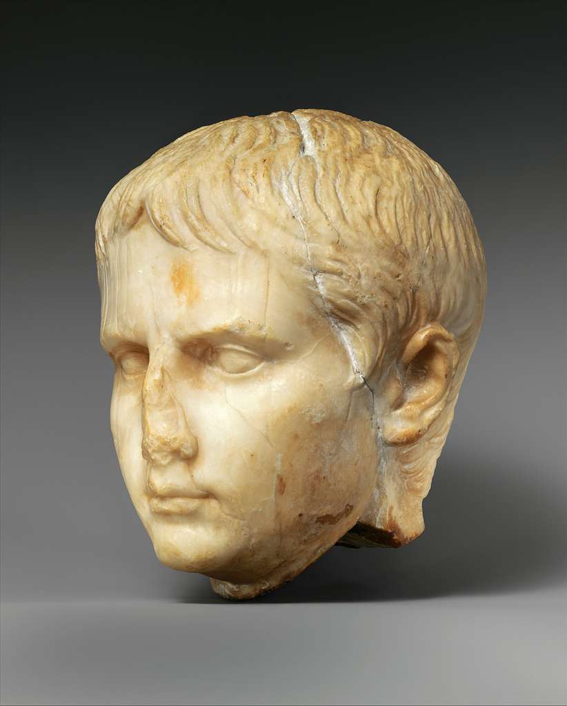 Stone head of a Julio-Claudian youth, possibly of Gaius Caesar