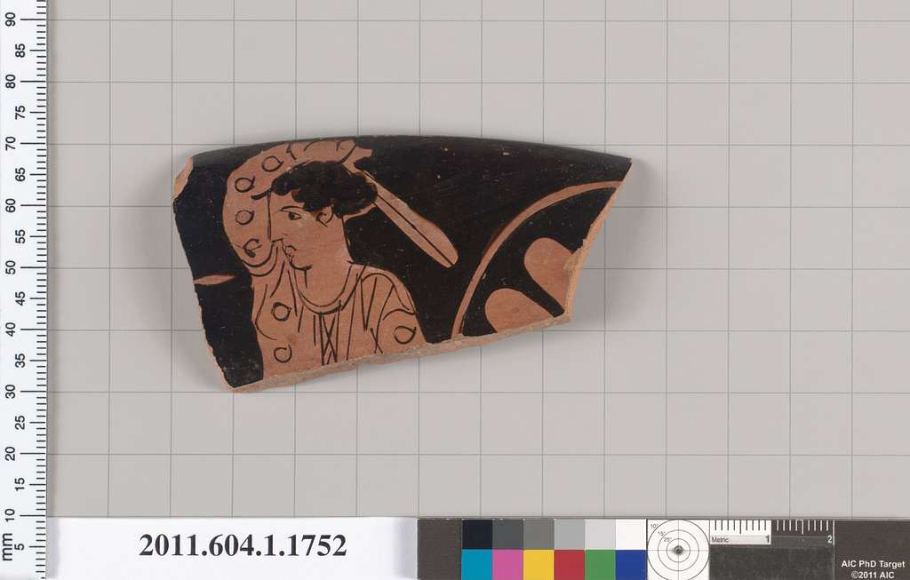 Terracotta rim fragment of a kylix (drinking cup)