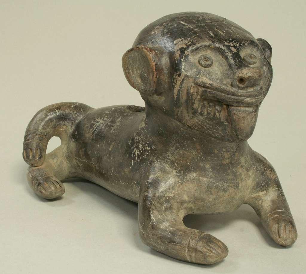 Ceramic Monkey Vessel