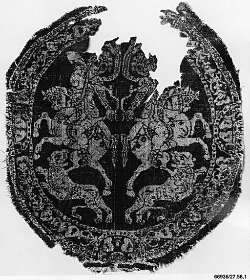 Medallion Depicting Addorsed Amazons on Horseback