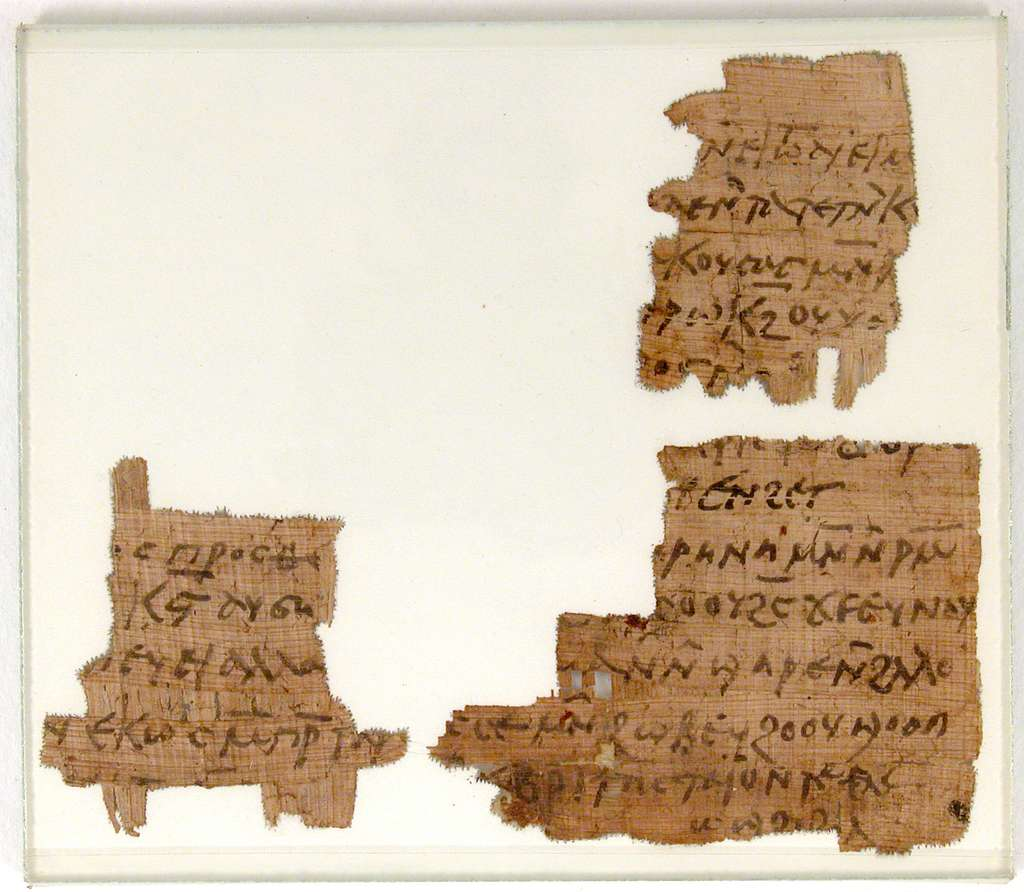 Papyrus Fragments of a Letter