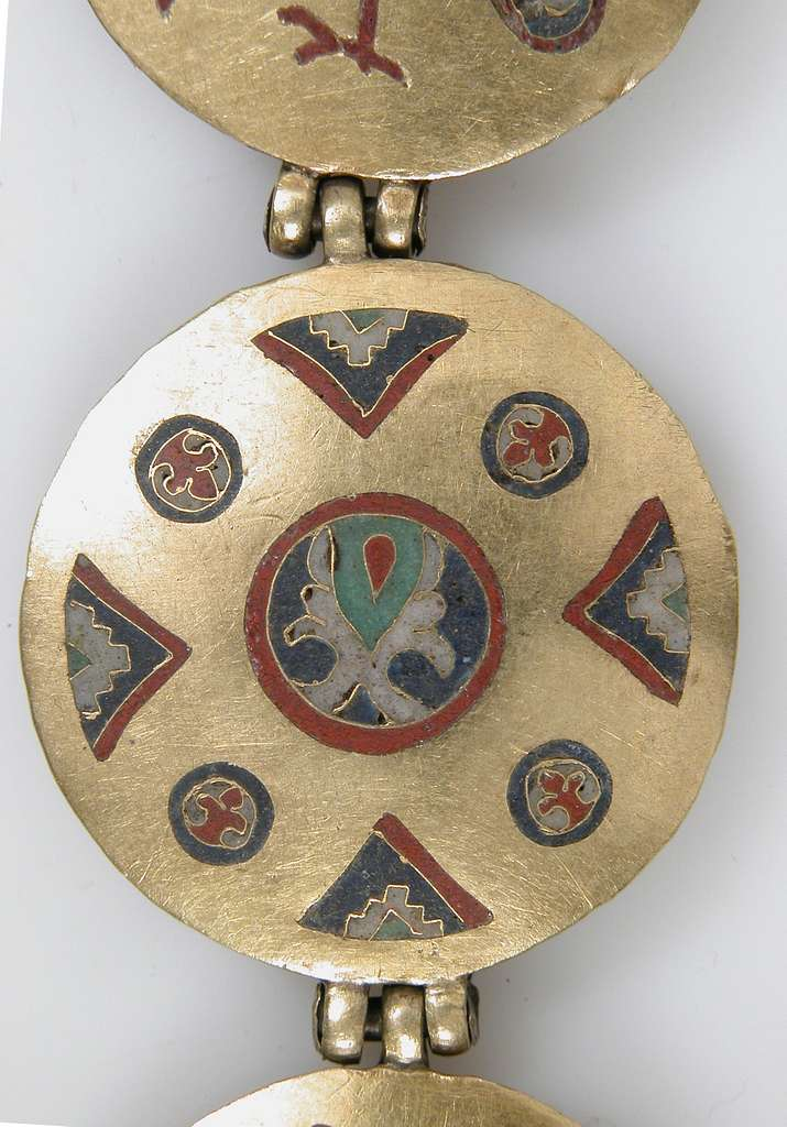 Chain with Birds and Geometric Motifs