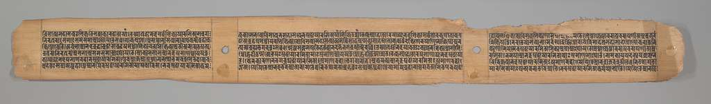 Buddha Giving Safety (Abhayananda) to Mariners, Leaf from a Dispersed Pancavimsatisahasrika Prajnapramita