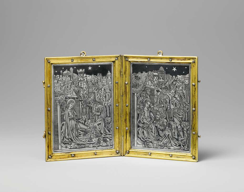 Devotional Diptych with the Nativity and the Adoration