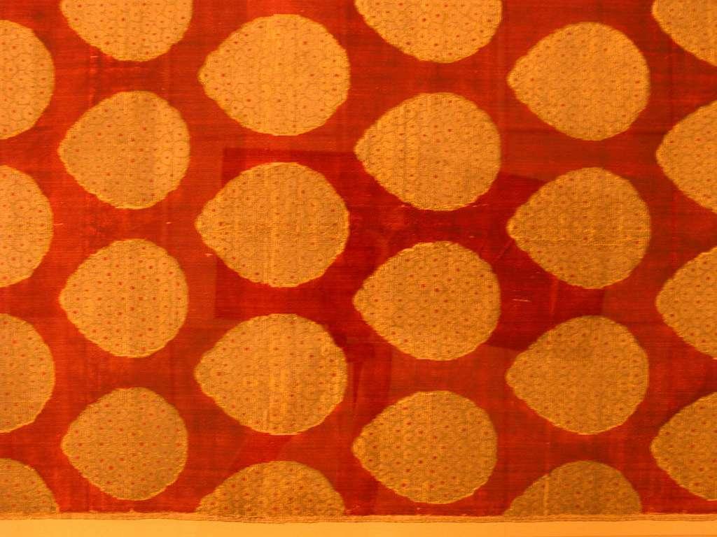 Loom Width of Silk Velvet with 'Pinecone' Pattern