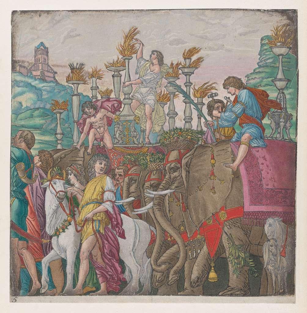 Sheet 5: Elephants, from The Triumph of Julius Caesar
