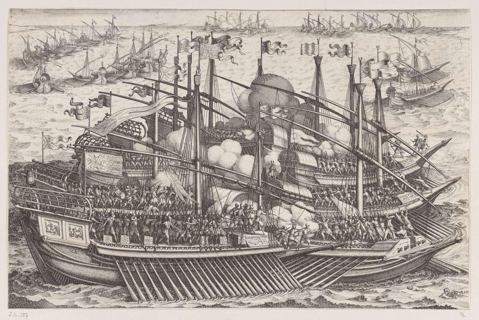 1er Combat Naval (First Naval Battle), from La Vie de Ferdinand Ier de Médicis série appelée aussi Les Batailles des Médicis (The Life of Ferdinand I de'Medici also called The Medici Battles)
