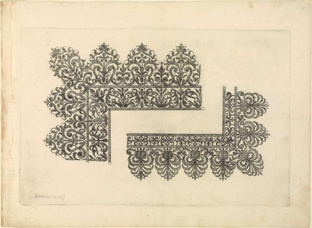 Vari disegni di merletti (page 6r)