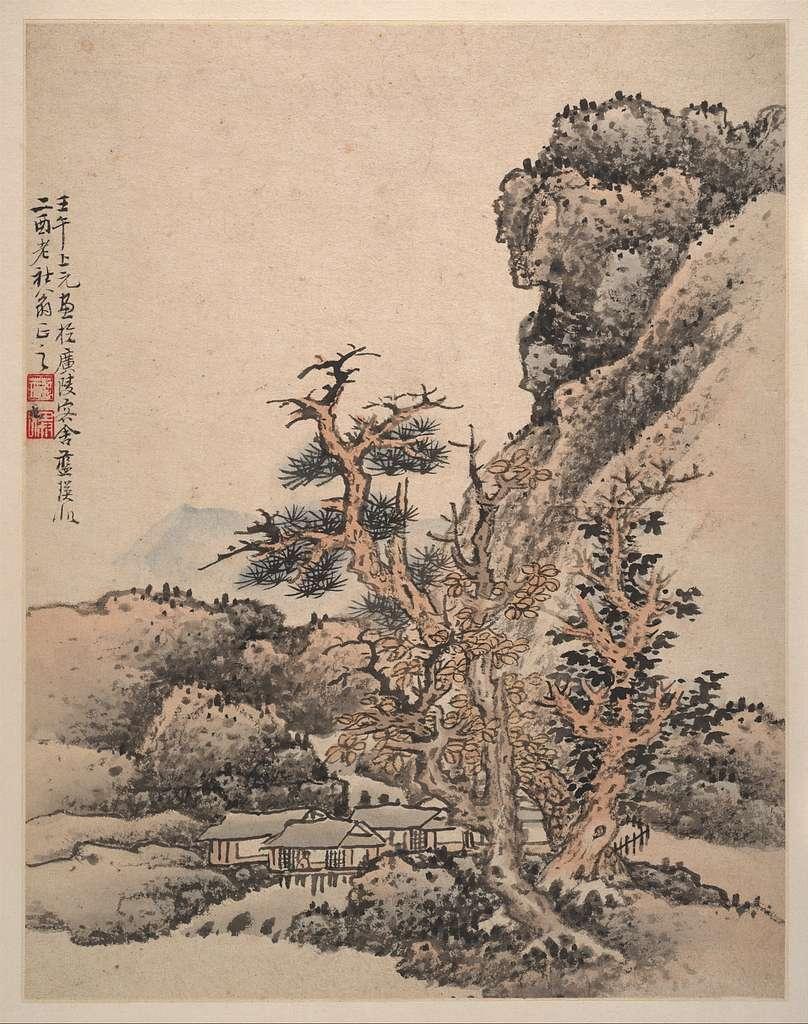 明   藍瑛   仿宋元山水圖   冊|Landscapes after Song and Yuan masters