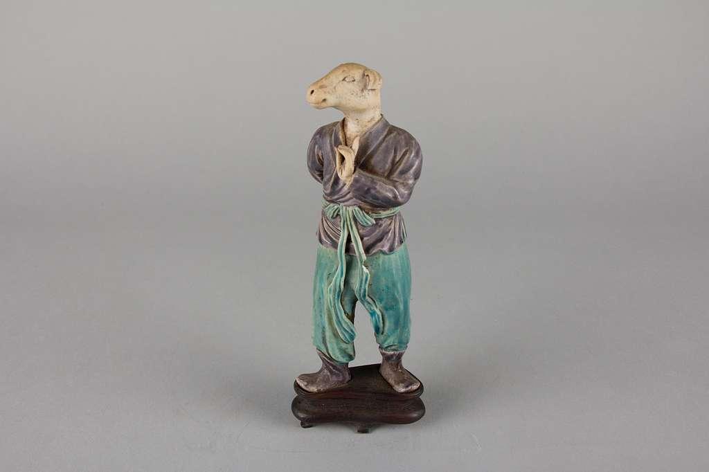 清  蓝紫釉生肖俑---狗|Zodiac Figure: Dog