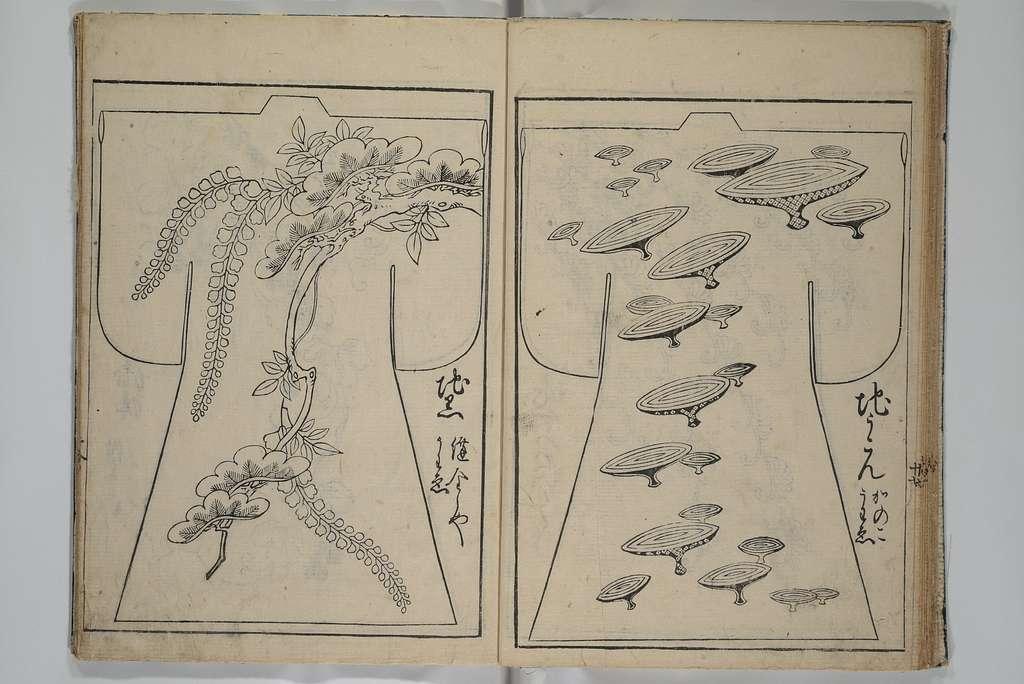菱川師宣画 『當世雛形』|Contemporary Kimono Patterns