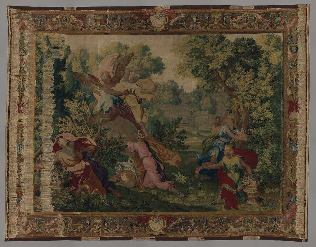 Boreas and Orithyia from a set of scenes from Ovid's Metamorphoses