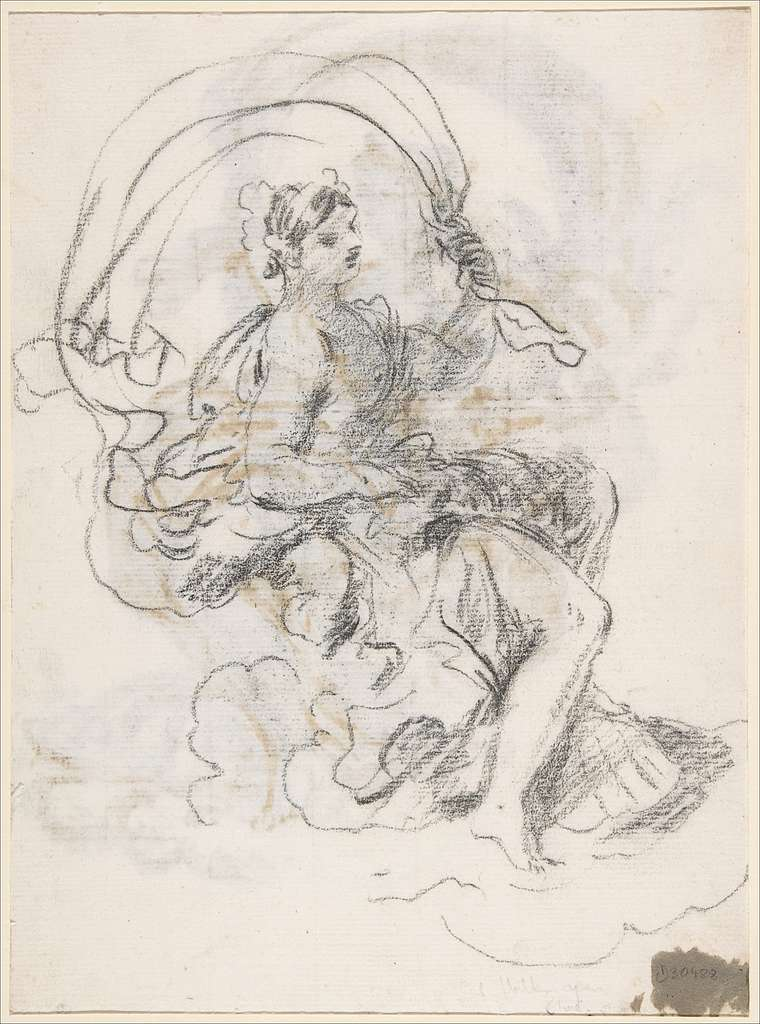 Studies of a Reclined Woman on a Seashell, for the Triumph of Galatea (recto and verso)