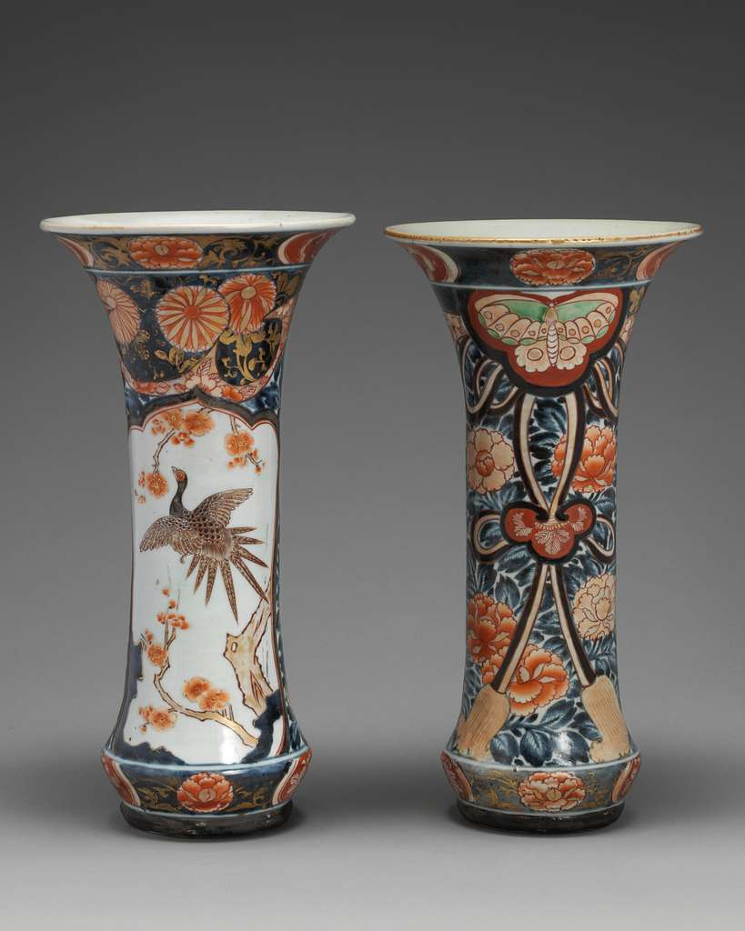 Beaker vase (part of a five-piece garniture)