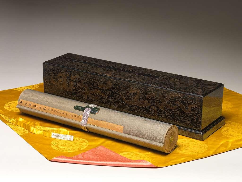 清   王翬 等   康熙南巡圖  (卷三: 濟南至泰山)   卷 The Kangxi Emperor's Southern Inspection Tour, Scroll Three: Ji'nan to Mount Tai