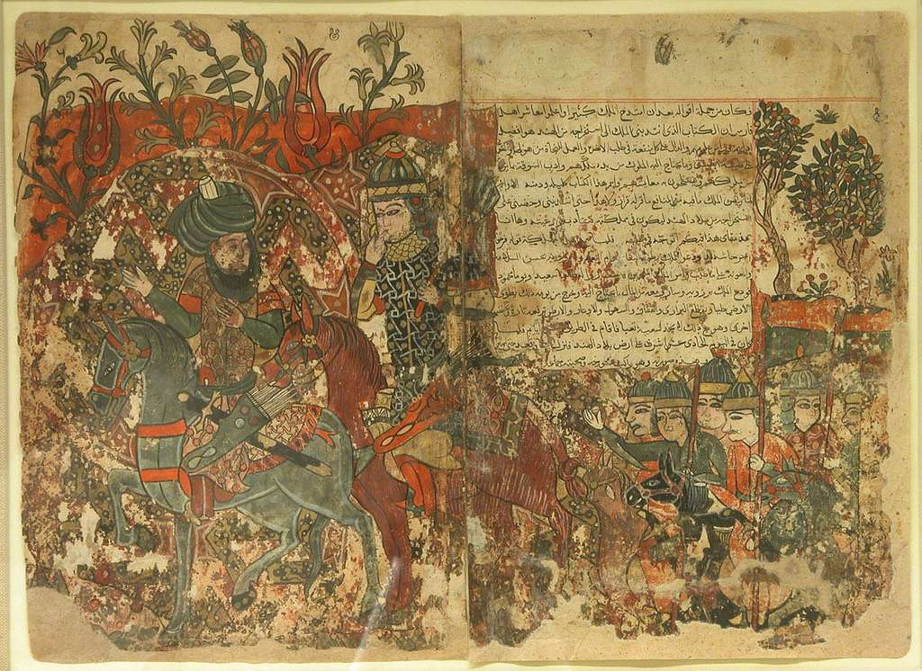 """Burzuya's Mission"" Folio 5v, 6r from a Kalila Wa Dimna of Bidpai"