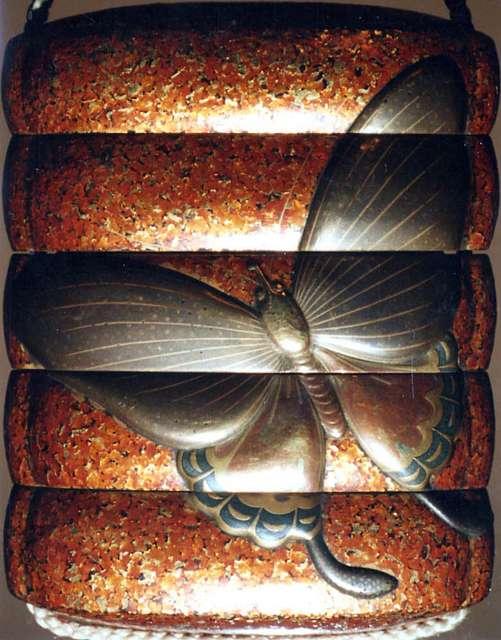 Case (Inrō) with Design of Butterflies