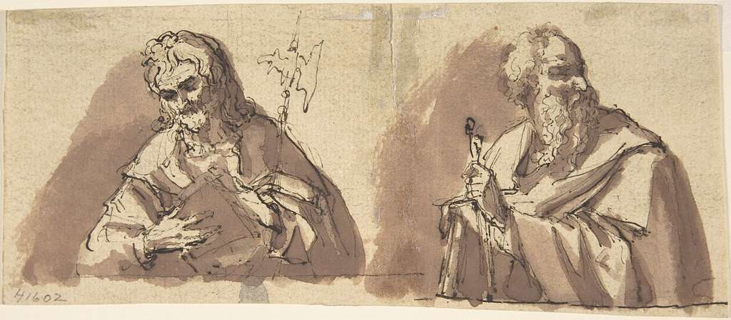 Christ (?) and an Apostle