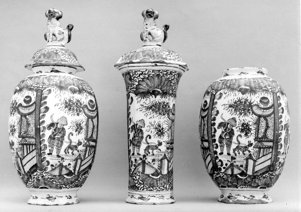 Jar with cover (part of a garniture)