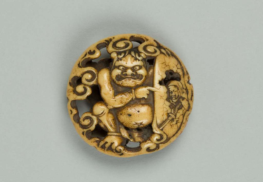 Netsuke with Carved Demon