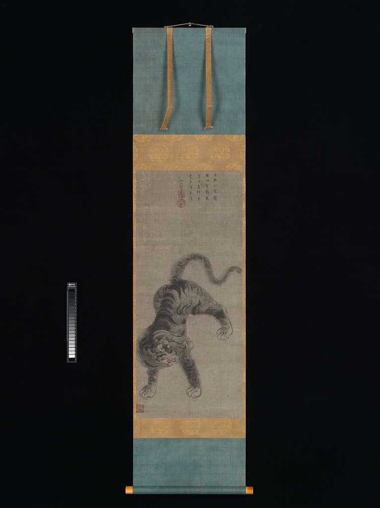 明窓筆 虎図|Tiger