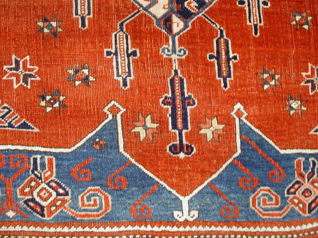 Tribal Carpet with Medallion Design