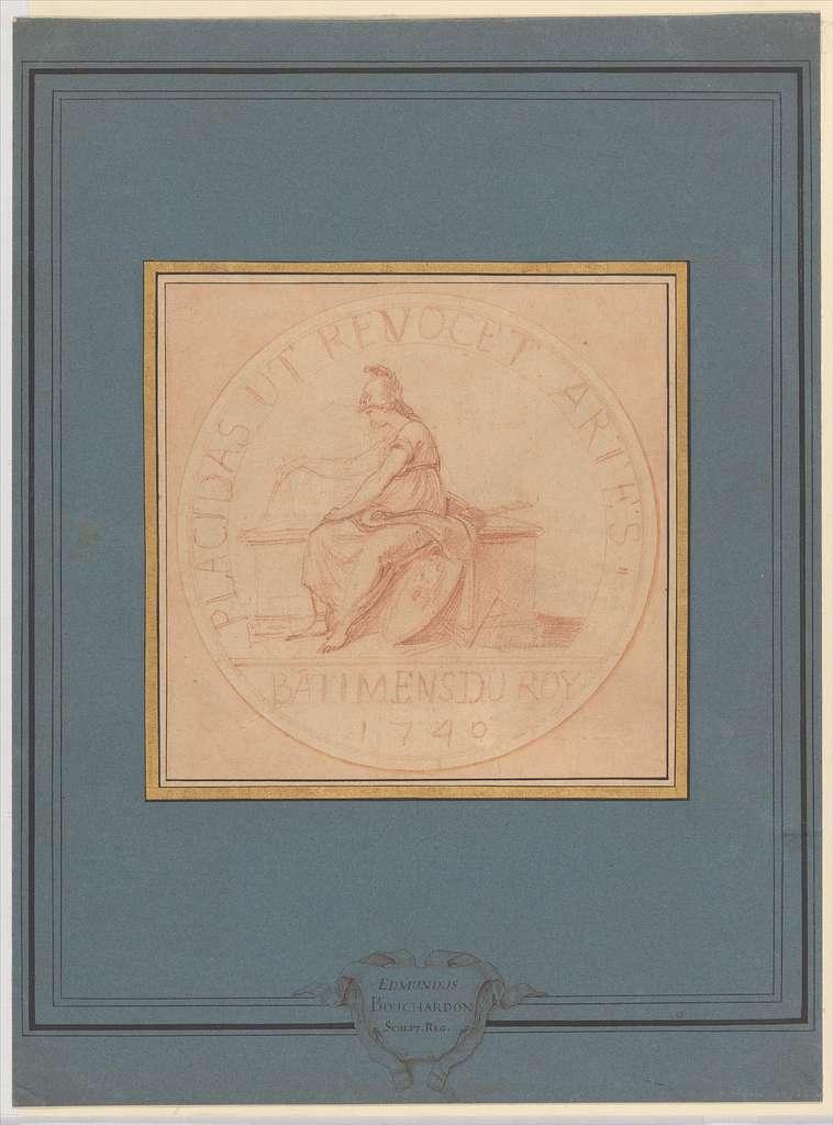 Design for a Medal: Bâtiments du Roy, 1740