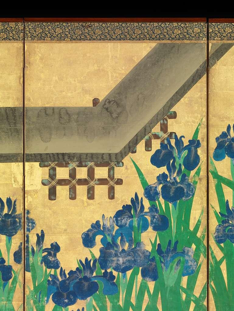 八橋図屏風 |Irises at Yatsuhashi (Eight Bridges)