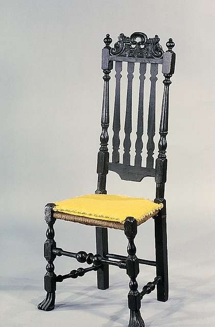 Banister-back chair