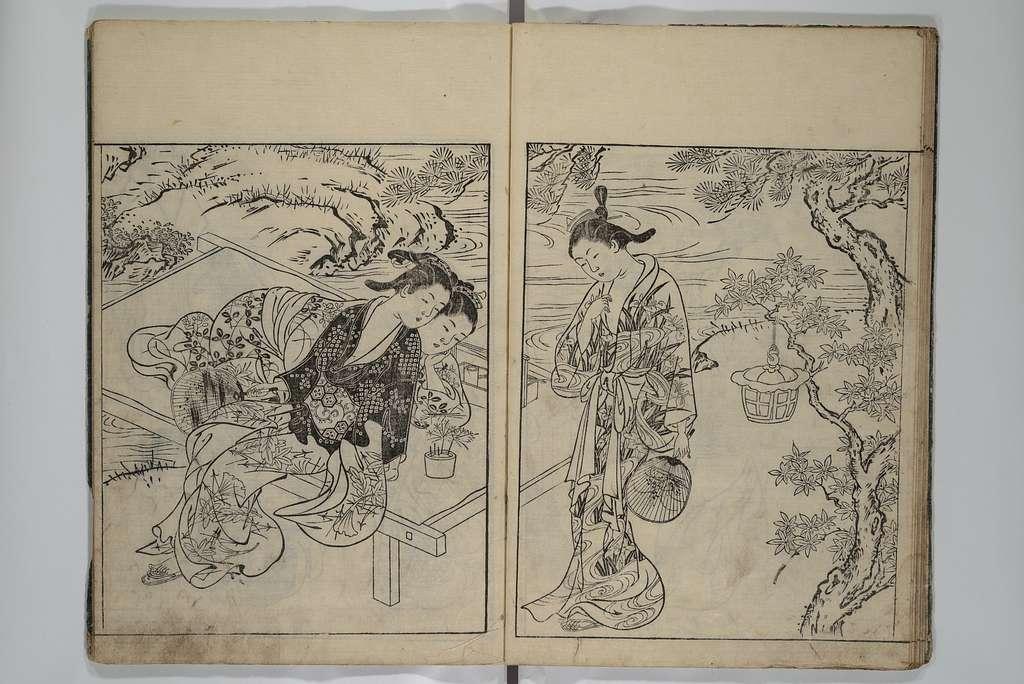 絵本常盤草 上・中・下|Picture Book of the Evergreens