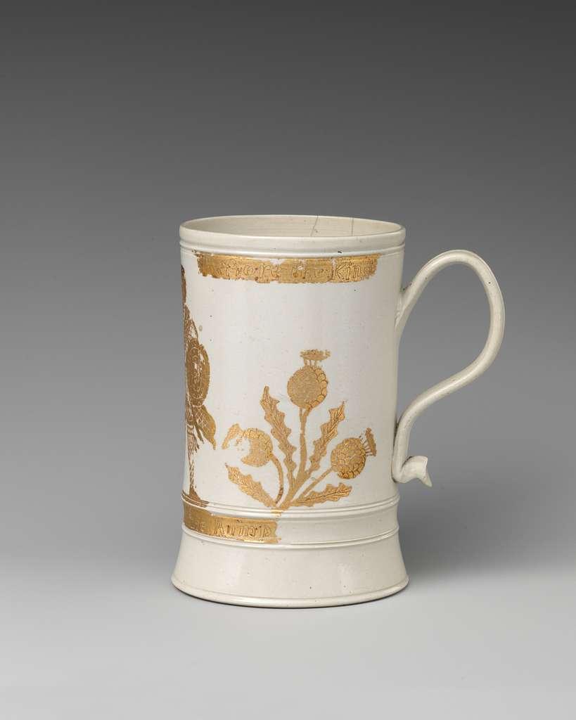 Jacobite mug with Prince Charles Edward Stuart (1720–1788)