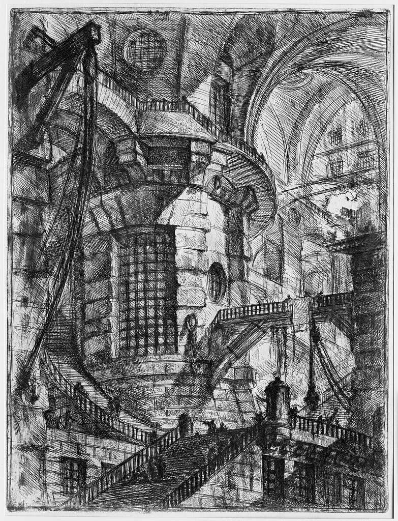 """The Round Tower, from """"Carceri d'invenzione"""" (Imaginary Prisons)"""