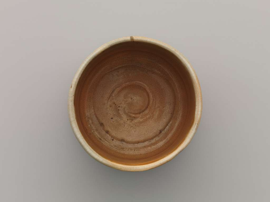 清水六兵衛作 御本写立鶴文茶碗 Gohon (Korean-Style) Tea Bowl with Cranes