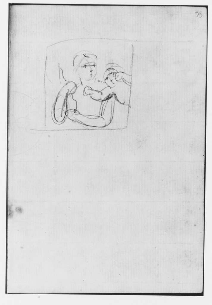 Sketch Book Containing 182 drawings on 91 leaves. One of a series used by the artist on his Italian trip, 1750–52; Sketches made in Milan, Turin, Florence, and Rome.