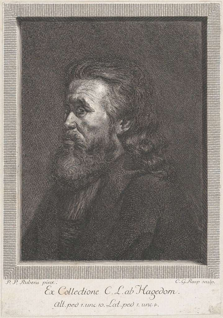 Portrait of an old man with a beard