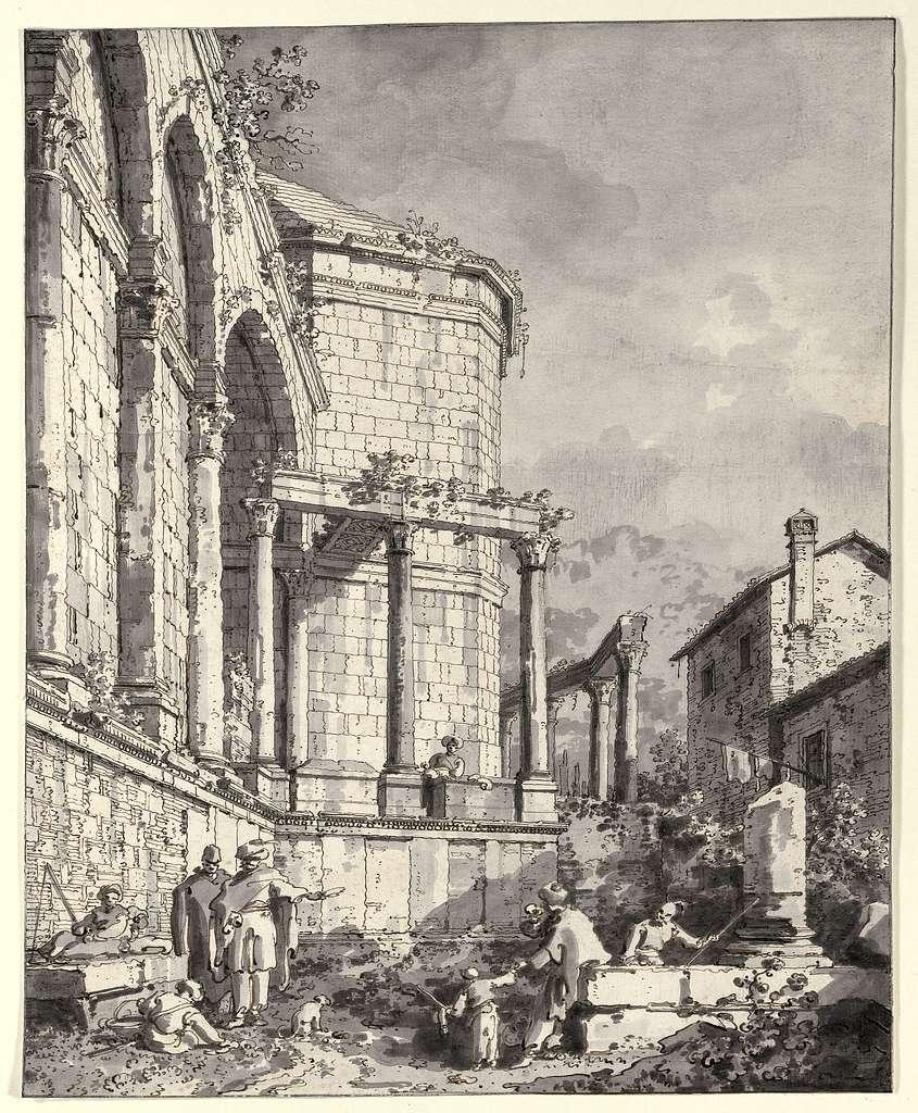 Ruins of the Palace of the Emperor Diocletian at Spalatro in Dalamatia