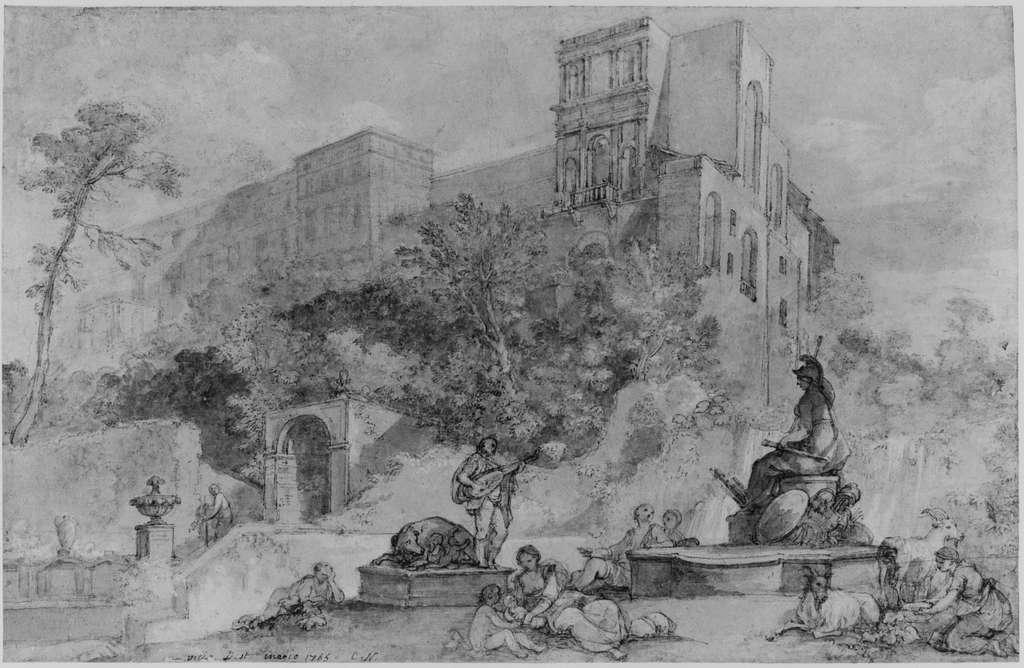 The Fountain of Rome at the Villa d'Este, Tivoli