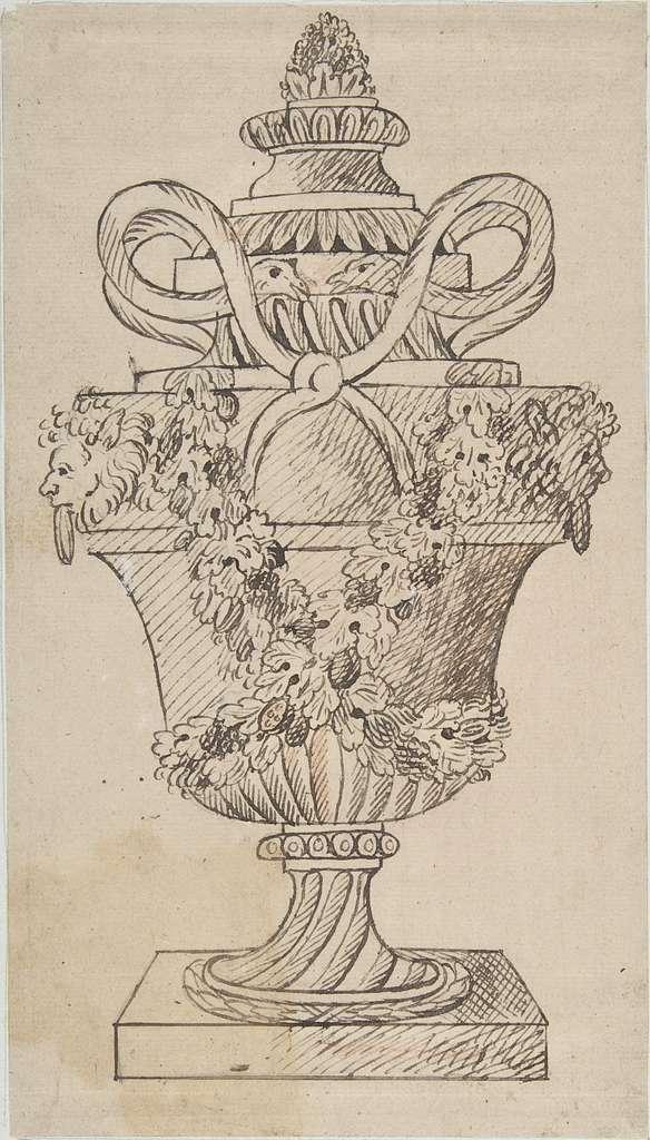 Design for an Urn (recto); Sketches (verso)