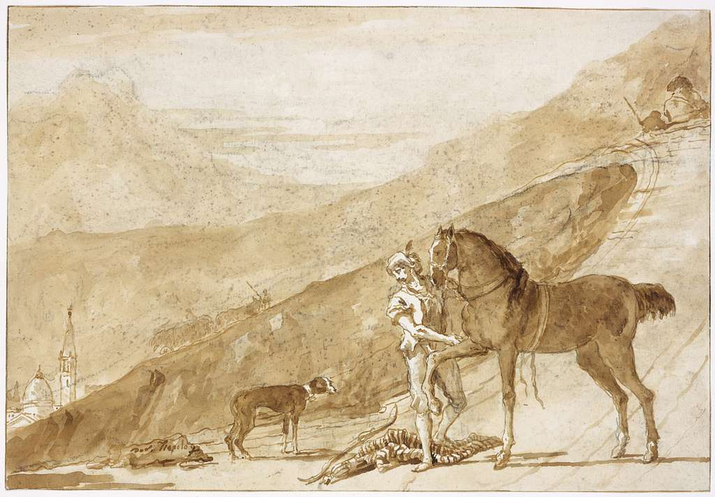 Landscape with a Horse Held by a Page