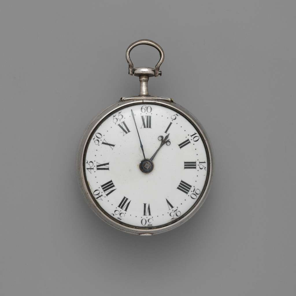 Pair-case watch and key