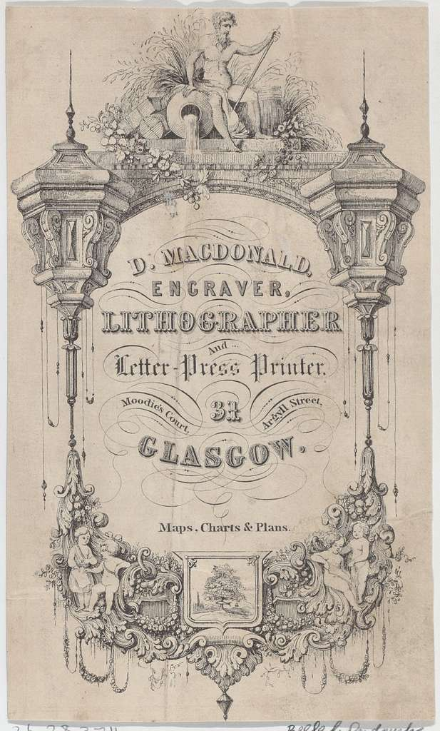 Trade Card for D. MacDonald, Engraver, Lithographer & Letter Press Printer