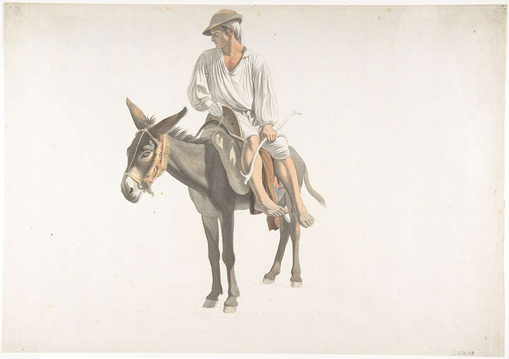 Peasant on a Donkey