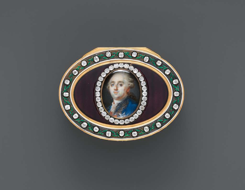 Snuffbox with portrait of Louis XVI (1754–1793), King of France