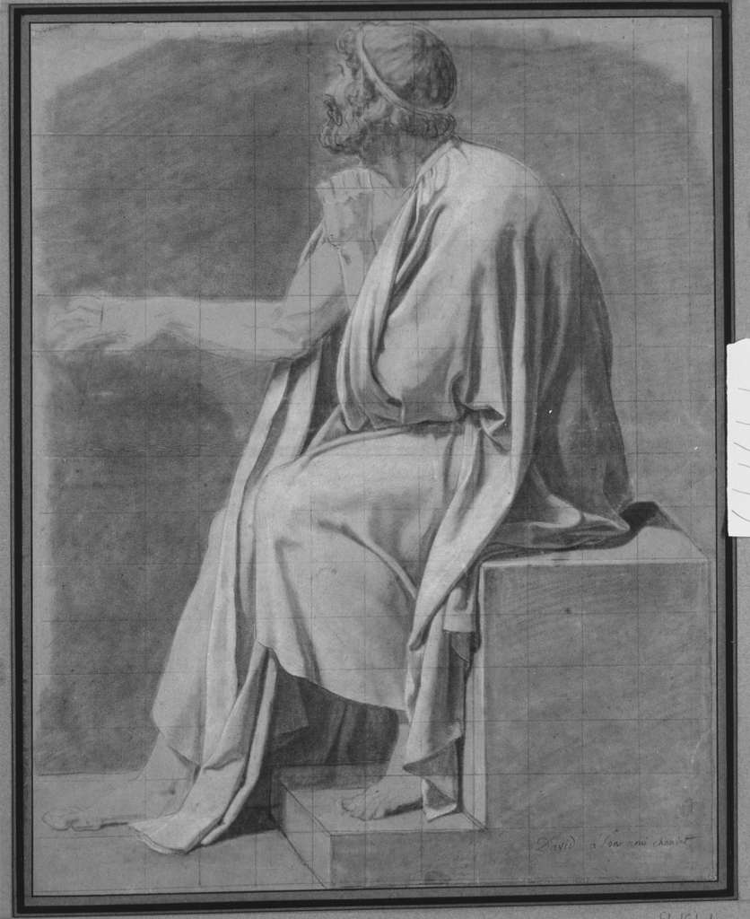 """Figure Study for """"The Death of Socrates"""""""