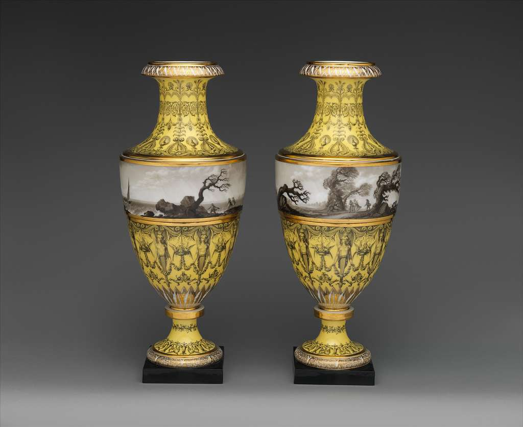 Vase with scenes of storm at sea