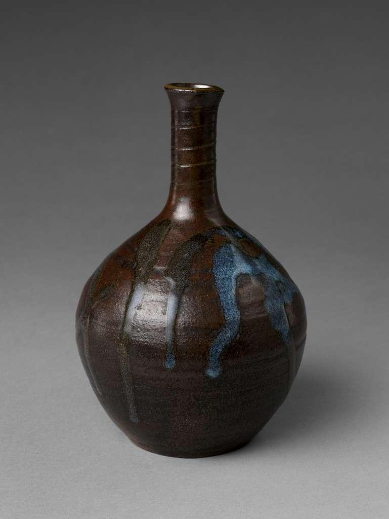 日本 瀬戸徳利 (19世紀前半) Bottle with Splashed Design