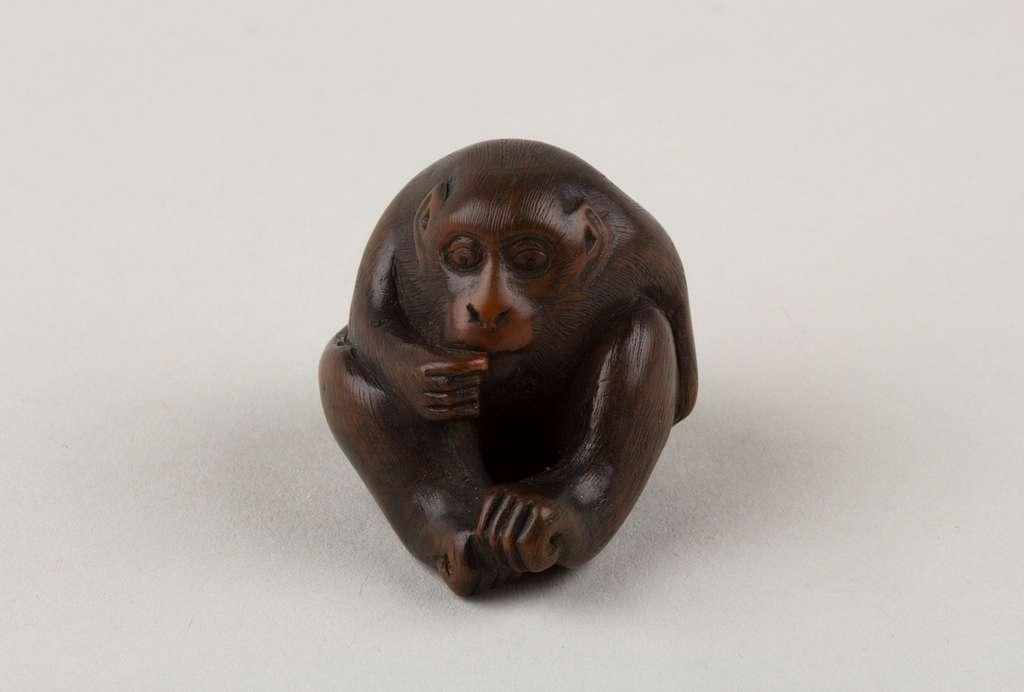 Netsuke of a Seated Monkey