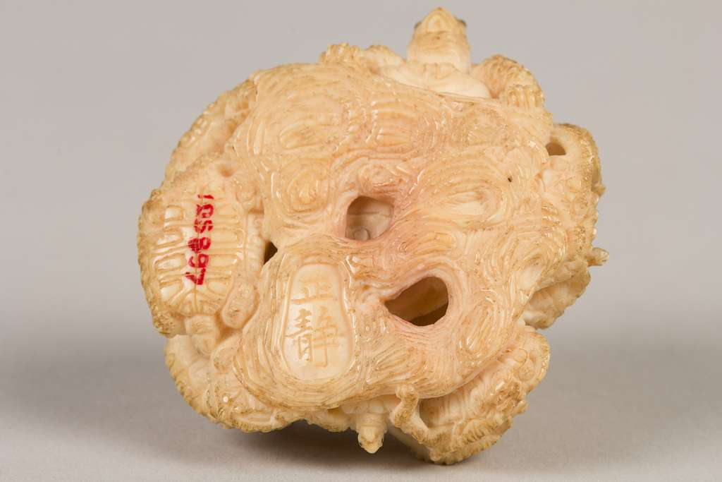 Netsuke of Group of Turtles