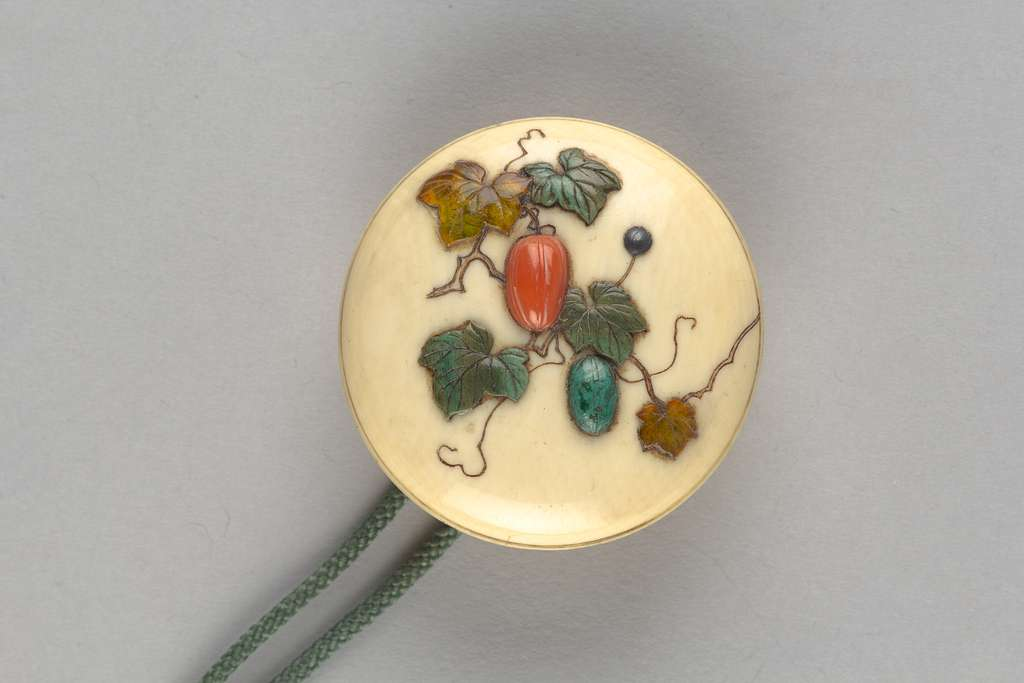 Netsuke of Squash and Vines