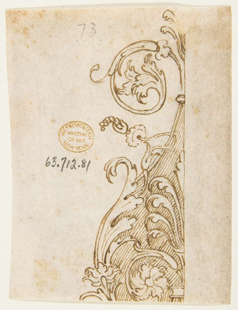 recto: Drawing after Antique Armor; verso: Drawing of an Architectural Fragment